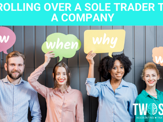 Rolling over a Sole Trader to a Company
