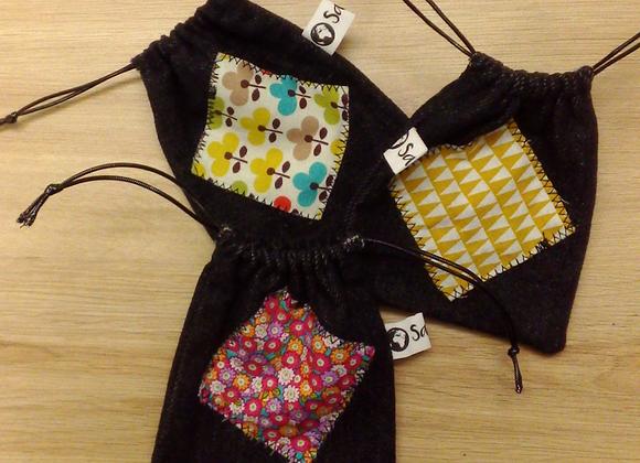 Lot de 3 mini-sacs