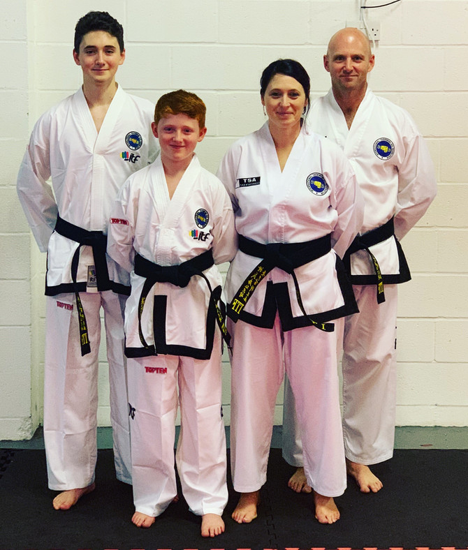 Two complete black belt families
