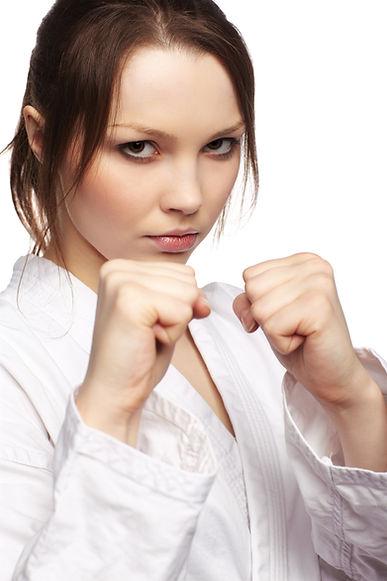 Beginner Taekwondo lady