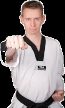Taekwondo instructor punch