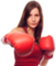boxing lady punching