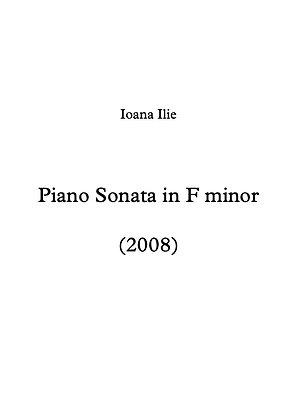 Piano Sonata in F minor (2008)