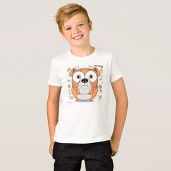 Bulldog (Orange) Boy's T-Shirt