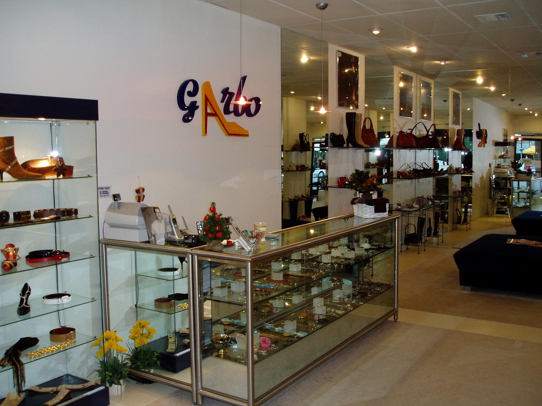 Garbo Shoes Logo (Inside Store)