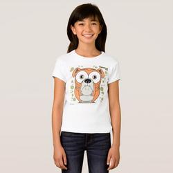 Bulldog (Orange) Girl's T-Shirt