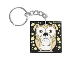 Bulldog (Light Brown) Keychain