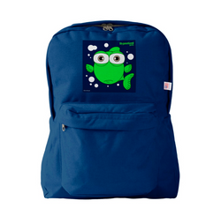 FISH (GREEN) NAVY BLUE BACKPACK