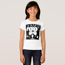 Cat (White) Girl's T-Shirt