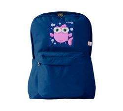 FISH (PINK) NAVY BACKPACK