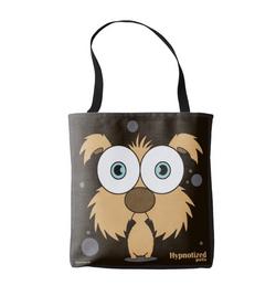 DOG (BROWN) SHOPPING BAG