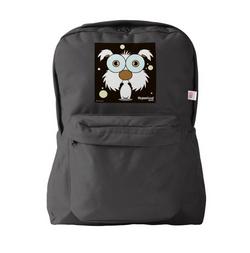 DOG (WHITE) BACKPACK BLACK