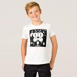 Cat (White) Boy's T-Shirt