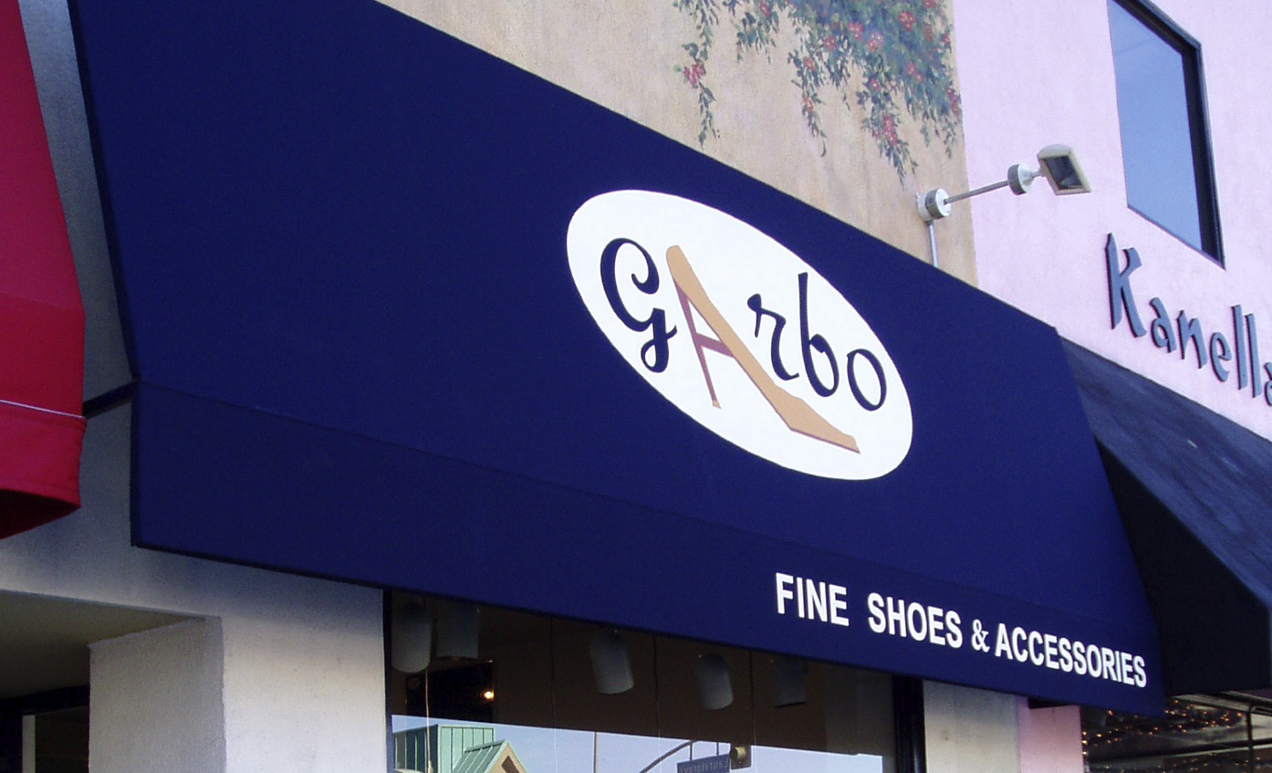Garbo Shoes Logo (Outside Store)