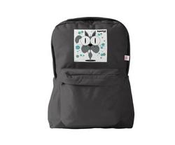 Cat (Grey) Backpack Black