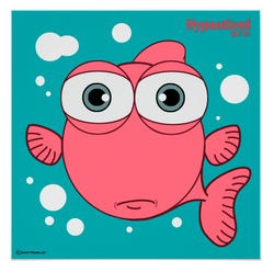FISH (LIGHT RED) POSTER