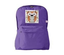 Bulldog (Orange) Backpack Purple