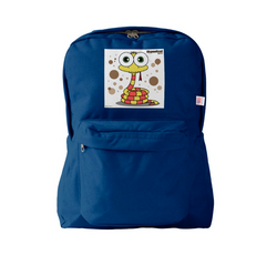 SNAKE (YELLOW) BLUE BACKPACK