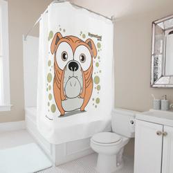 Bulldog (Orange) Shower Curtain