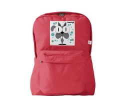 Cat (Grey) Backpack Red
