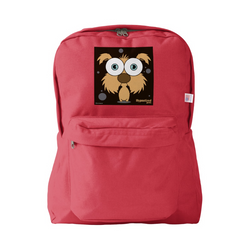 DOG (BROWN) BACKPACK RED