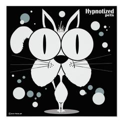 Cat (White) Poster