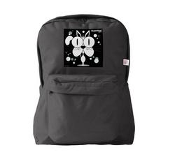 Cat (White) Backpack Black