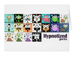 HYPNOTIZED PETS COLLAGE CARD
