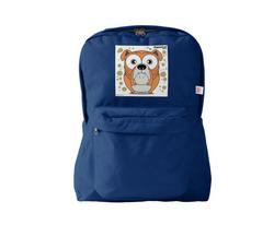 Bulldog (Orange) Backpack Navy