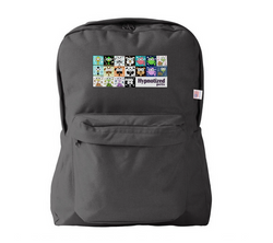 HYPNOTIZED PETS COLLAGE BACKPACK BLACK