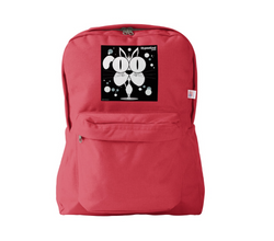 Cat (White) Backpack Red