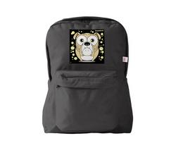 Bulldog (Light Brown) Backpack Black