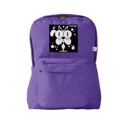 Cat (White) Backpack Purple