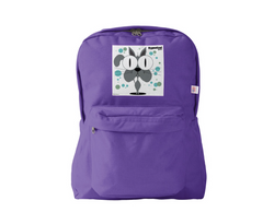 Cat (Grey) Backpack Purple
