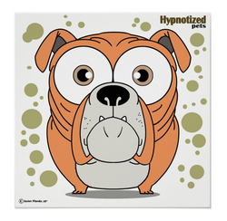 Bulldog (Orange) Poster