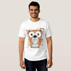 Bulldog (Orange) Men's T-Shirt