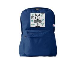 Cat (Grey) Backpack Navy