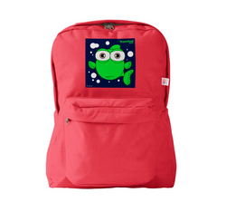FISH (GREEN) RED BACKPACK