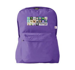 HYPNOTIZED PETS COLLAGE BACKPACK PURPLE