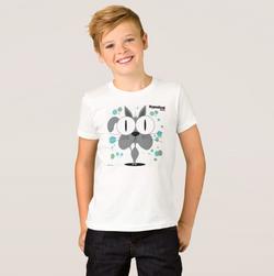 Cat (Grey) Boy's T-Shirt