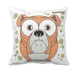 Bulldog (Orange) Pillow