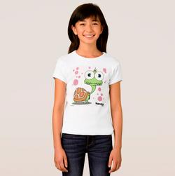 TURTLE (WHITE BG) GIRL'S T-SHIRT