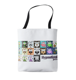 HYPNOTIZED PETS COLLAGE SHOPPING BAG