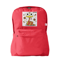 SNAKE (YELLOW) RED BACKPACK