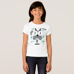 Cat (Grey) Girl's T-Shirt