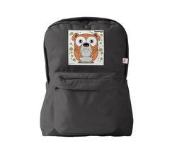 Bulldog (Orange) Backpack Black