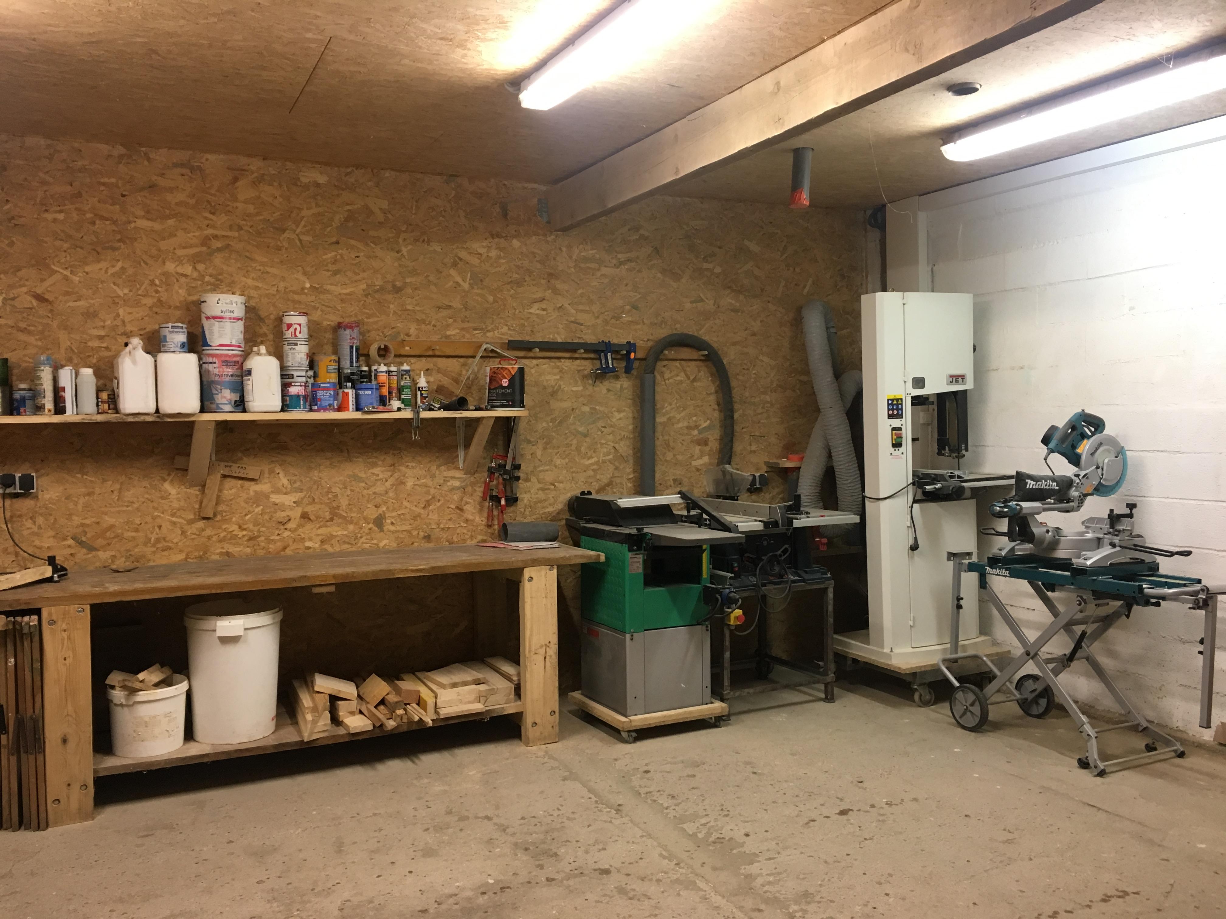 Notre atelier de menuiserie