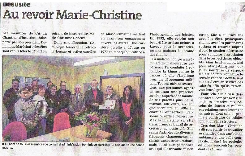Au revoir Marie-Christine