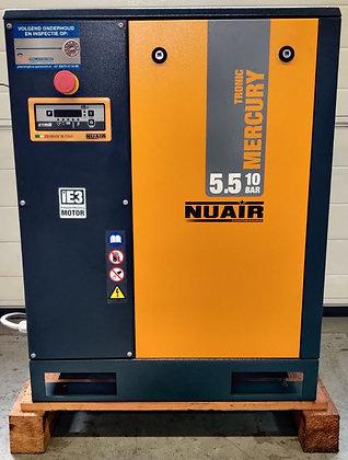 NUAIR MercuryTronic 5.510 Schroefcompressor 5.5 kW 650 l/min bouwjaar 2015