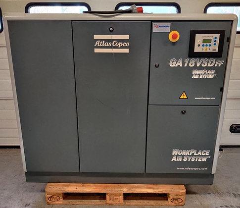 Atlas Copco GA18VSD Schroefcompressor 18 kW 3.350 l/min  bouwjaar 2006